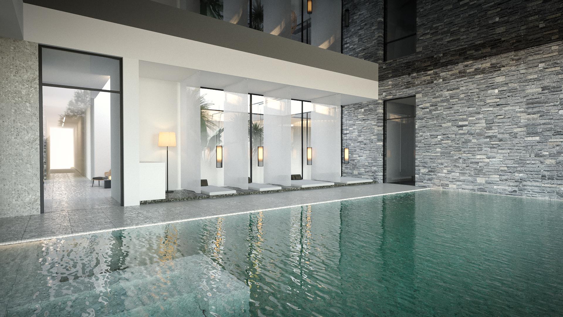 Σχεδιασμός εσωτερικού χώρου Spa Center σε ξενοδοχείο στην Κω