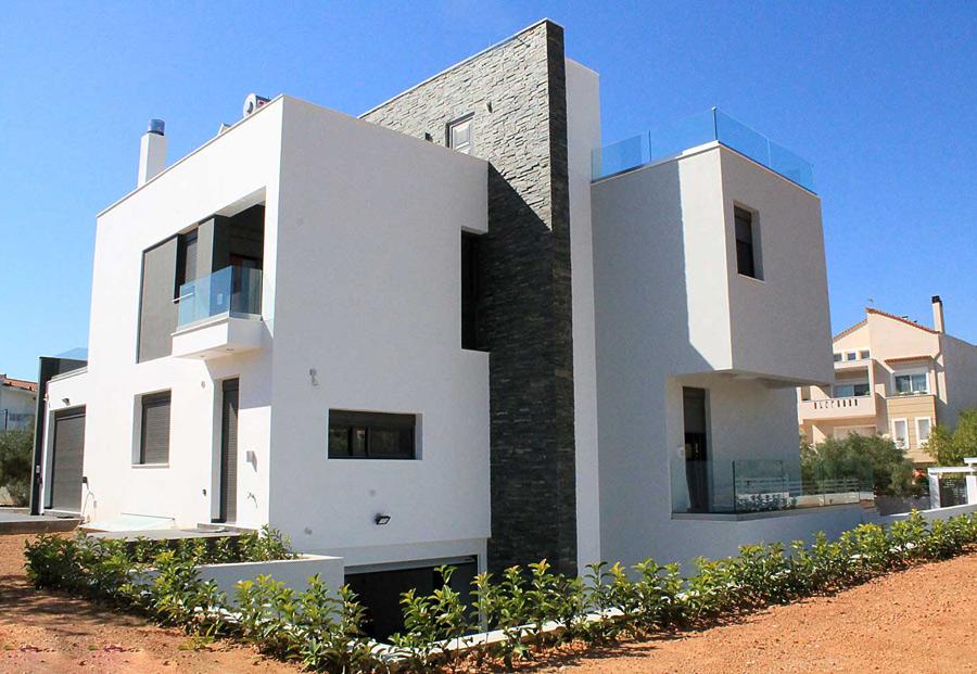 κατασκευή μονοκατοικίας σε ελαιώνα