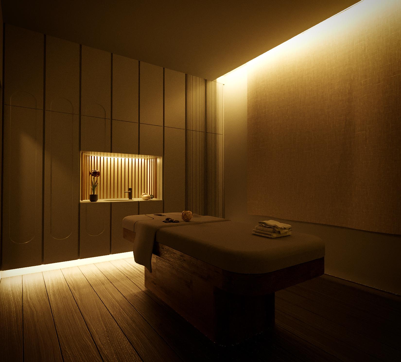 Interior design Spa Center in a hotel in Kos